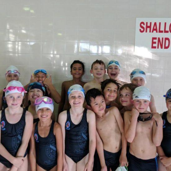 The Blue Coat School swimming class