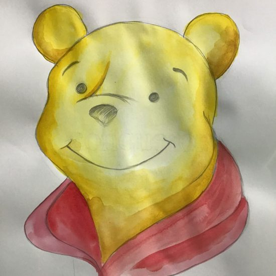 painting of winnie the pooh
